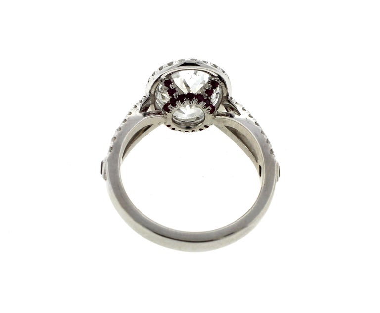 Oval Cut 3 Carat Oval Diamond Engagement Ring with Twisted Shank, Platinum 'GIA' For Sale