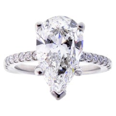 3 Carat Pear Shape Diamond Engagement Ring