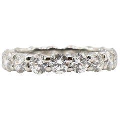 3 Carat Round Diamond Platinum Eternity Band Wedding Ring