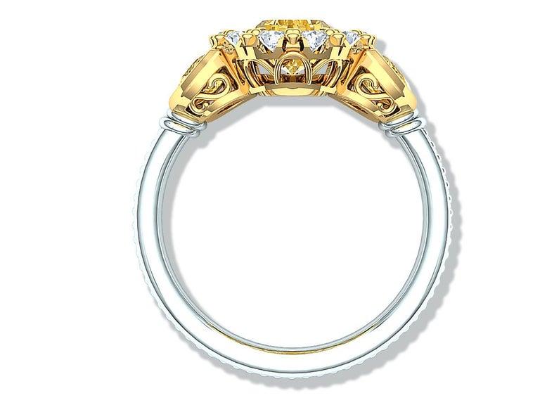 Pear Cut 3 Carat Fancy Light Yellow Pear Shape Diamond Ring For Sale