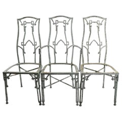 3 Cast Aluminum Lawn or Garden Chairs by Kessler