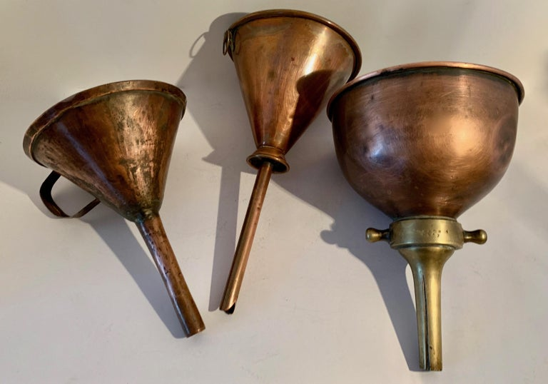 3 Copper Funnels For Sale 12