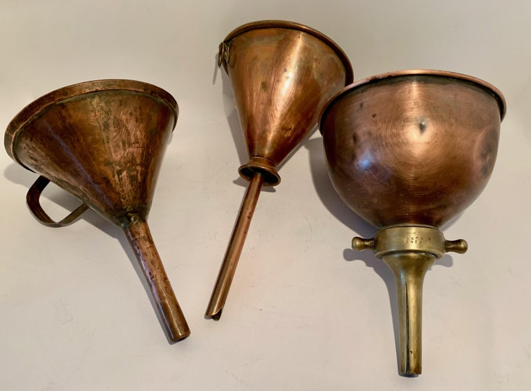 3 Copper Funnels For Sale 13