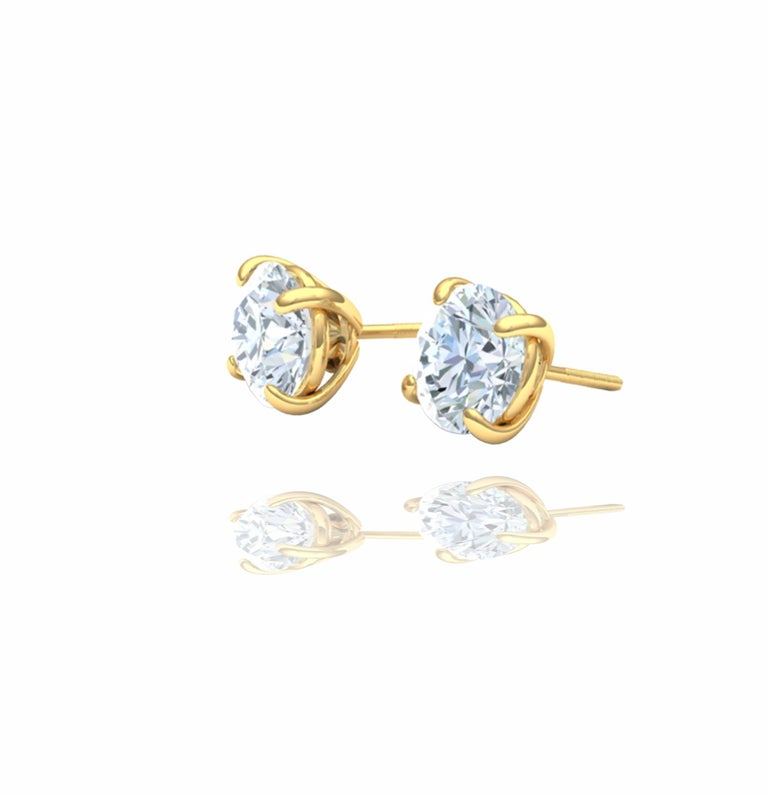 This classic 3ctw diamond stud earrings have everything for the person looking for an everyday pair of earrings and jewelry.   These earrings have a 1.5 carat in each head and the diamonds have a color and clarity of F-G SI.  The total diamond carat