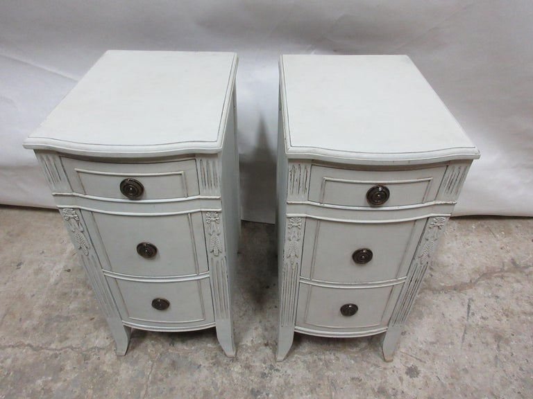 Swedish 3-Drawer Nightstands For Sale
