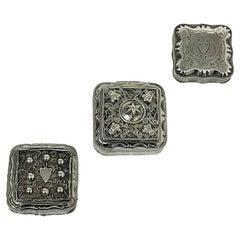 3 Dutch Silver Peppermint Boxes