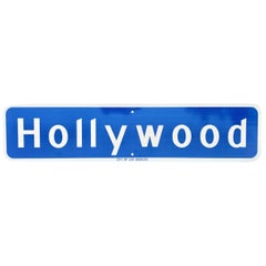 3 Foot Long Original Hollywood Blvd Street Sign