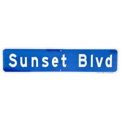 Original Sunset Blvd Street Sign