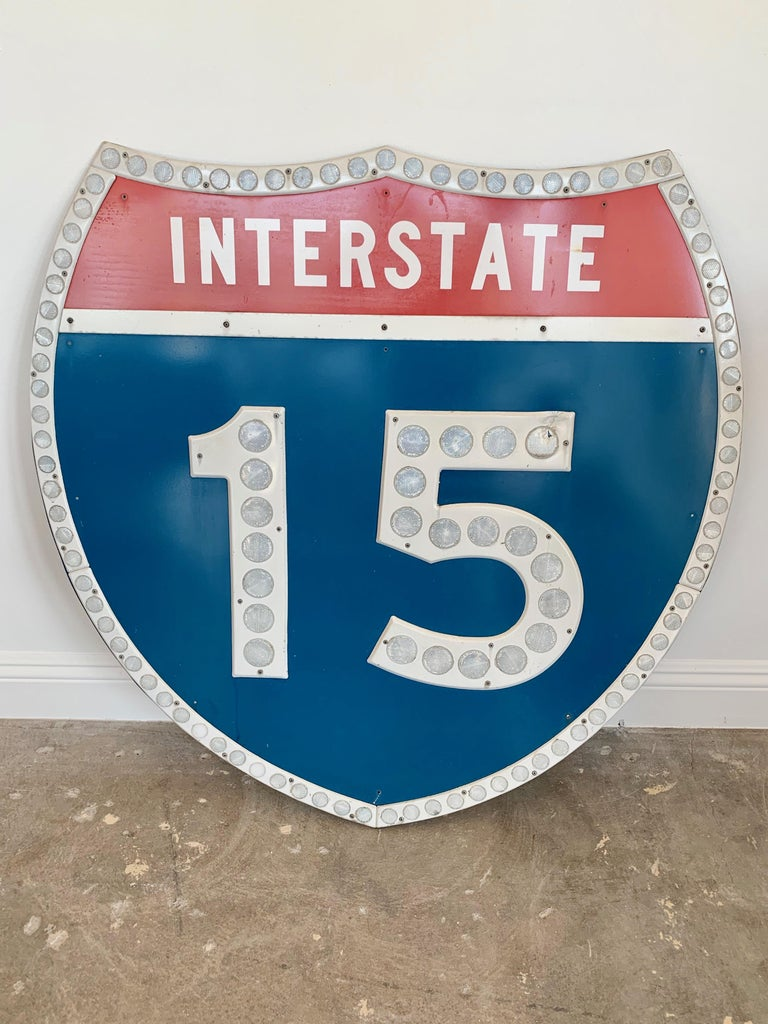 American Tall Los Angeles 15 Freeway Shield For Sale