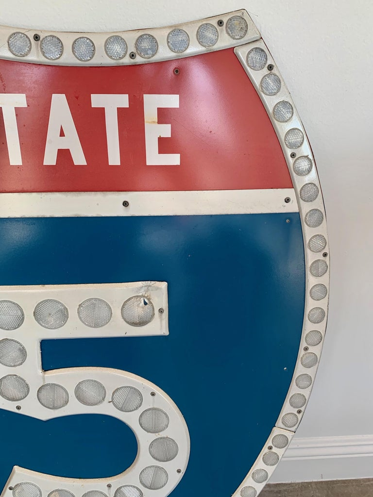 Tall Los Angeles 15 Freeway Shield For Sale 1