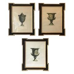 3 Italian Classical Urn Prints