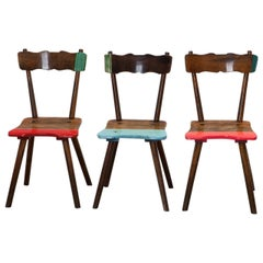 "Functional art, 3 chairs ""Bavarian Steel"" by Markus Friedrich Staab"