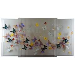 3 Large Exotic Butterfly Mounted Lucite Shadow Display Boxes Taxidermy San Juan