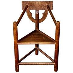 3-Legged Chair by Bernhard Hoetger, circa 1923