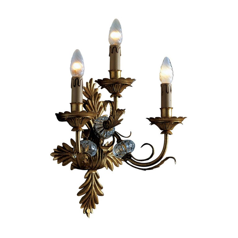 3-Light Wall Sconce For Sale
