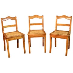 3 Original Biedermeier Chairs, circa 1830