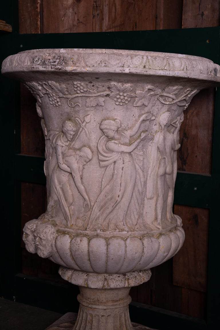 2 Pairs of Terracotta Neoclassical Garden Pots In Good Condition For Sale In New Orleans, LA