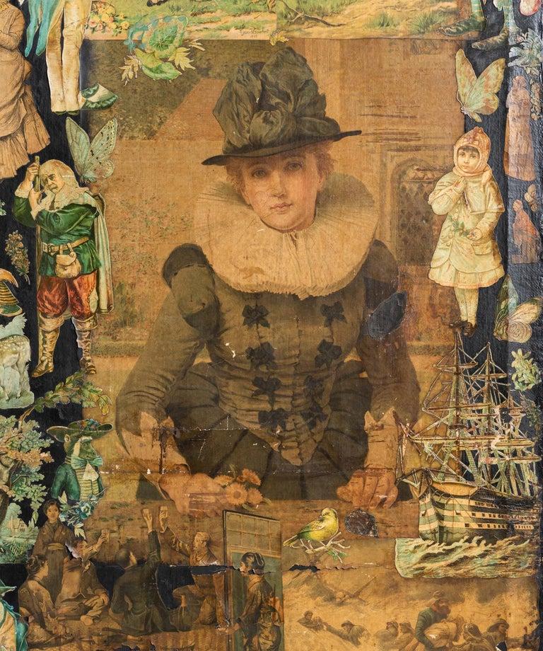 Wood 3-Panel Folk Art Screen Europe, Early 20th Century For Sale