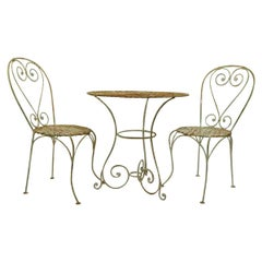 3 Piece French Wrought Iron Bistro Set