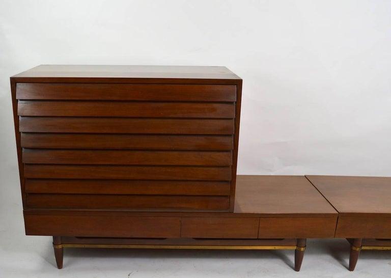 Three-Piece Merton Gershon Design for American of Martinsville Server Sideboard For Sale 3