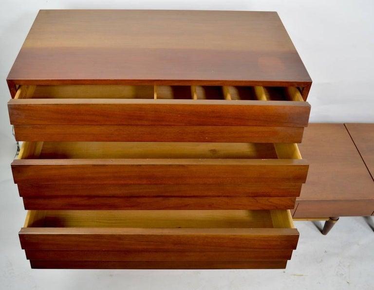 Three-Piece Merton Gershon Design for American of Martinsville Server Sideboard For Sale 4