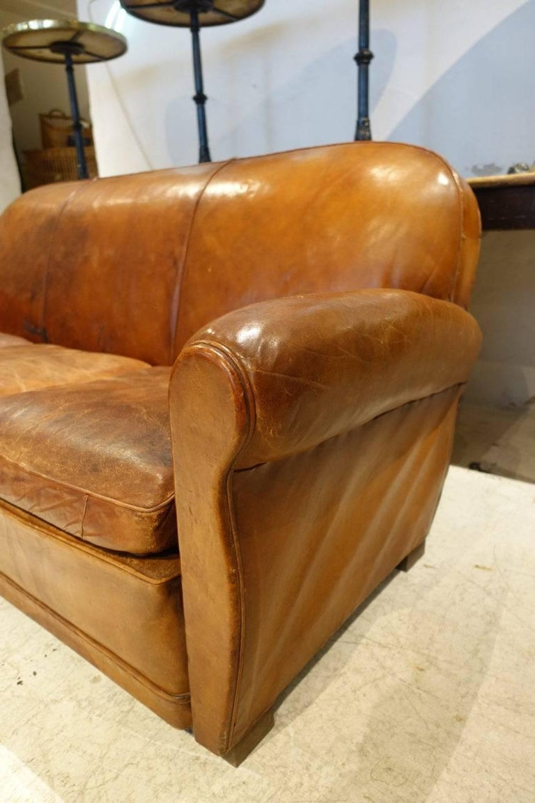 Pleasing Three Person Leather Club Sofa Ncnpc Chair Design For Home Ncnpcorg