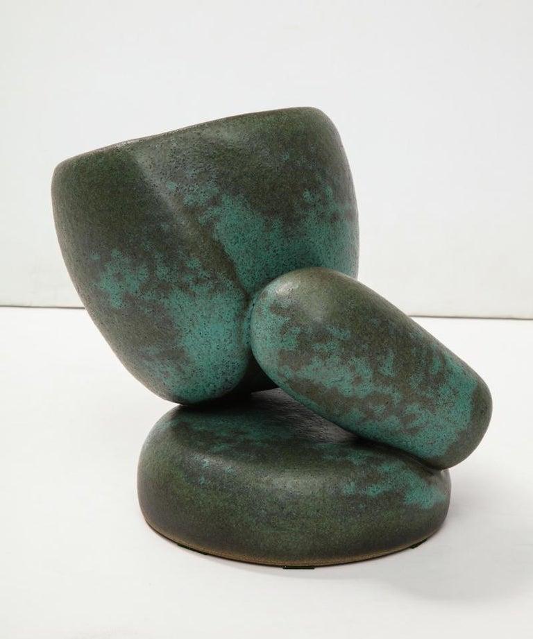Ceramic 3-Piece Assemblage Sculpture For Sale
