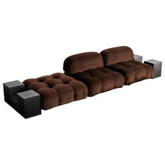 3-Piece Chocolate Camaleonda Sofa by Mario Bellini for C&B Italia 'B&B Italia'