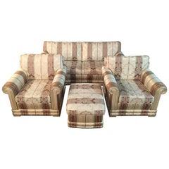 3-Piece Set in Biedermeier Style Satin Fabric High Quality