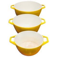 3-Piece Set of Enameled Cookware by Copco of Denmark Designed by Michael Lax