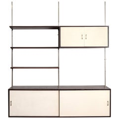 3-Piece Wenge and Formica Wall Unit
