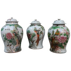 3 Porcelain Chinese Vases, Early 20th Century