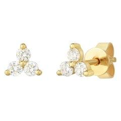 3 Round Diamond Gold Studs, Ben Dannie