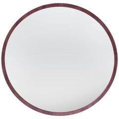 """3' Round Wall Mirror"" by Studio Craft Artist Adam Zimmerman, 21st Century"