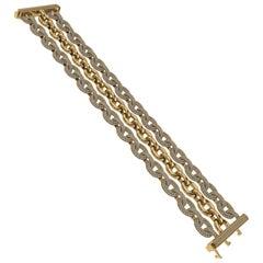 3-Row Diamond Bracelet