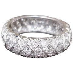 3-Row Staggered Diamond Eternity Ring