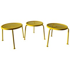 3 Salterini Canary Yellow Stools/ Tables
