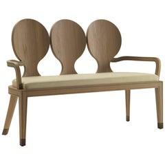 3 Scots Watch Bench in Natural Oak Finish