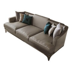 3-Seat Beige Sofa
