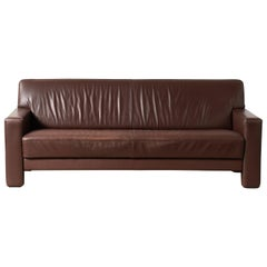 3-Seat De Sede Mid-Century Modern Patinated Brown Leather Sofa