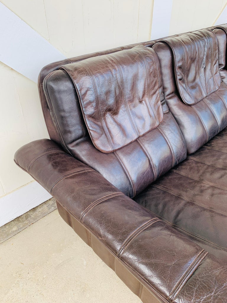 3-Seat Leather Sofa by De Sede, Switzerland For Sale 4