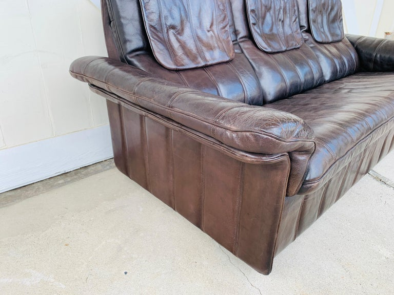 3-Seat Leather Sofa by De Sede, Switzerland For Sale 5