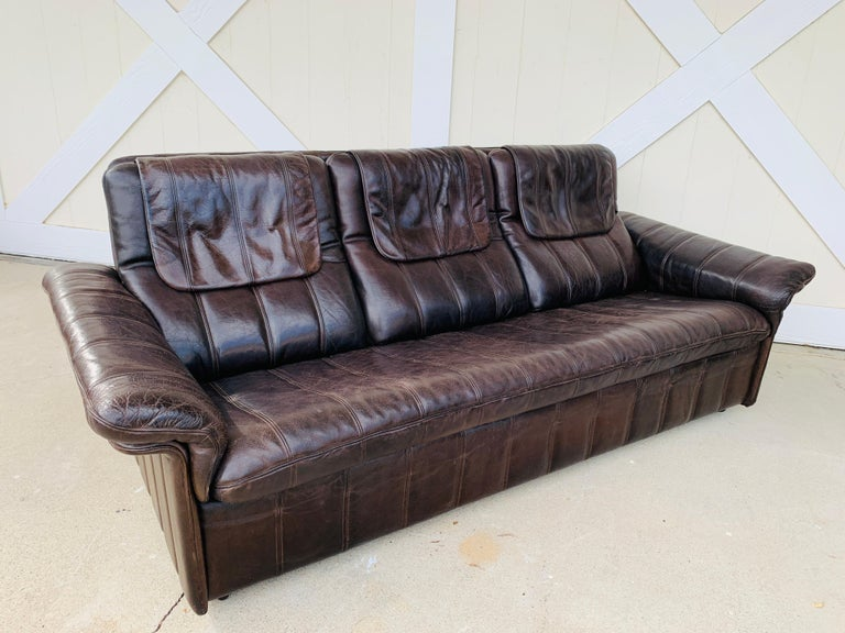 3-Seat Leather Sofa by De Sede, Switzerland For Sale 7