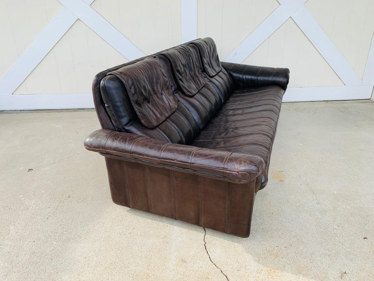 3-Seat Leather Sofa by De Sede, Switzerland For Sale 8