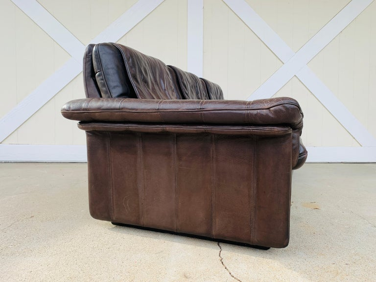 3-Seat Leather Sofa by De Sede, Switzerland For Sale 9