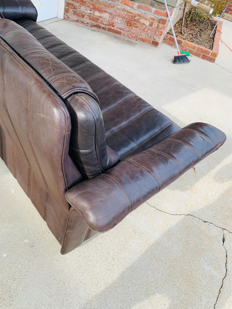 3-Seat Leather Sofa by De Sede, Switzerland For Sale 10