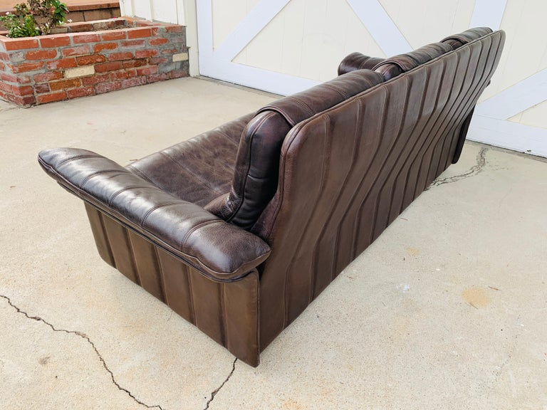 3-Seat Leather Sofa by De Sede, Switzerland For Sale 12