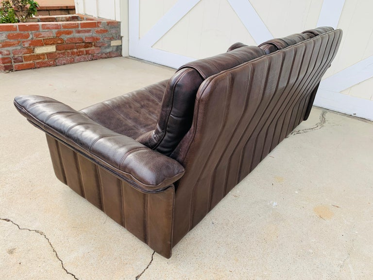 3-Seat Leather Sofa by De Sede, Switzerland For Sale 13
