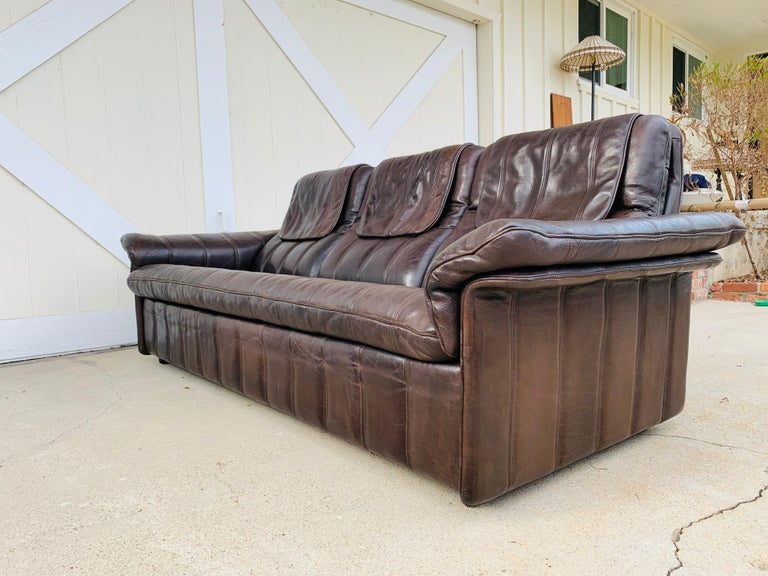 3-Seat Leather Sofa by De Sede, Switzerland For Sale 14
