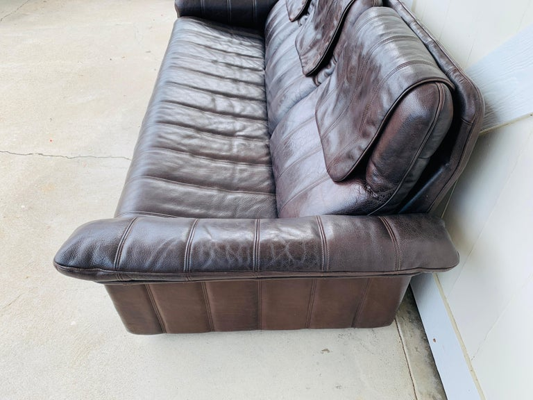 20th Century 3-Seat Leather Sofa by De Sede, Switzerland For Sale